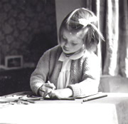 photograph of Lizzie Allen as a child