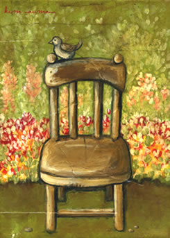 Painting of a chair by Kim Naumann