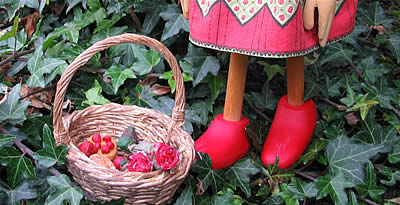 puppet's feet and basket  from Little Red ... You Know Who