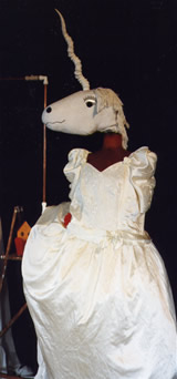 unicorn puppet from Norman's Ark